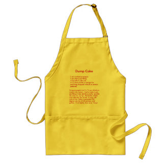 Dump Cake Recipe on an Apron