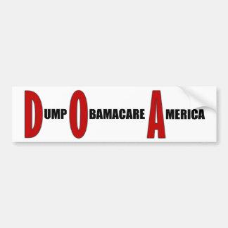 Dump Obamacare America Bumper Sticker