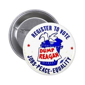 Dump Reagan - Button