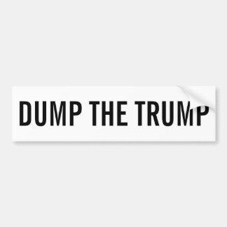 Dump The Trump Bumper Sticker - Black & White