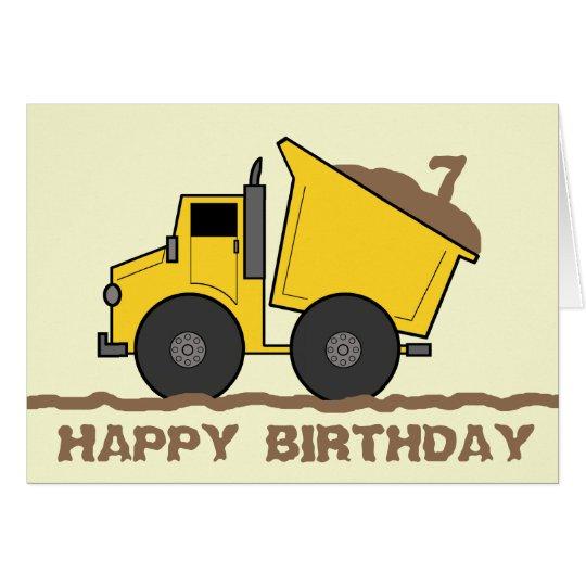 Dump Truck Birthday Card