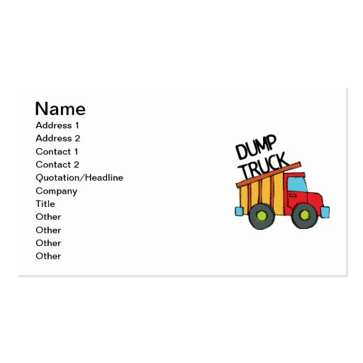 Create Your Own Truck Driver Business Cards - Page8