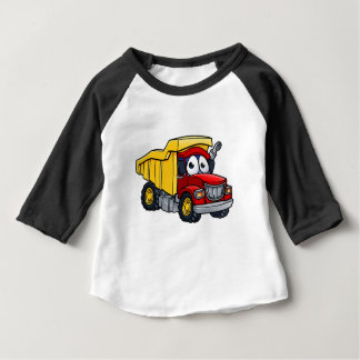 Dump Truck Cartoon Character Baby T-Shirt