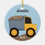 Dump Truck Christmas Ornament