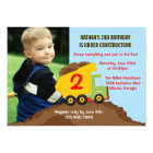 Dump Truck Construction Boy Birthday Party Photo Card