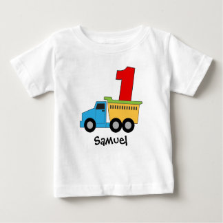 Dump Truck First Birthday Tshirt Personalized