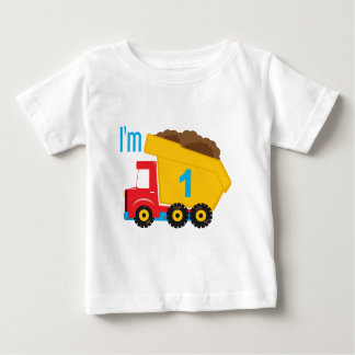 Dump Truck I'm 1 Baby T-Shirt