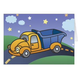 Dump Truck Kids Art Card
