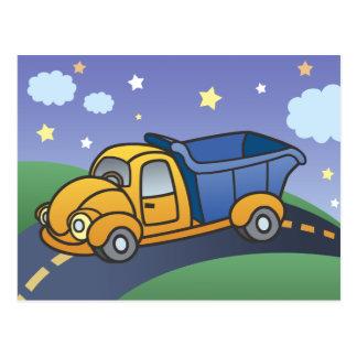 Dump Truck Kids Art Postcards