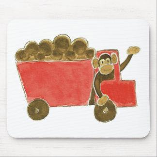 Dump Truck Monkey Mouse Mat