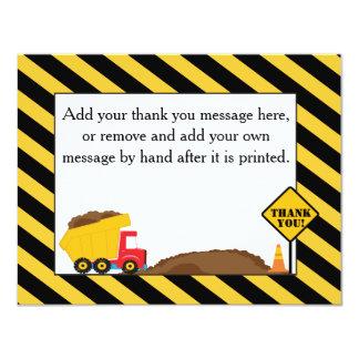 Dump Truck Thank You Card 11 Cm X 14 Cm Invitation Card