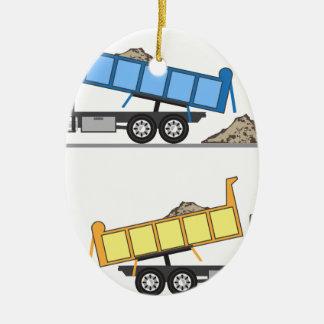 Dump Truck vector Christmas Ornament