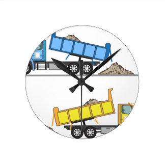 Dump Truck vector Round Clock