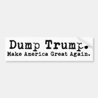 Dump Trump 2016 Make America Great Bumper Sticker