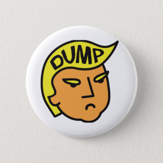 Dump Trump 6 Cm Round Badge