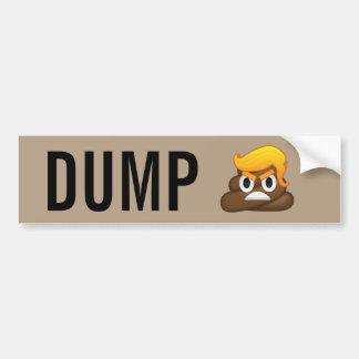 Dump Trump Angry Face Poop Emoji Bumper Sticker