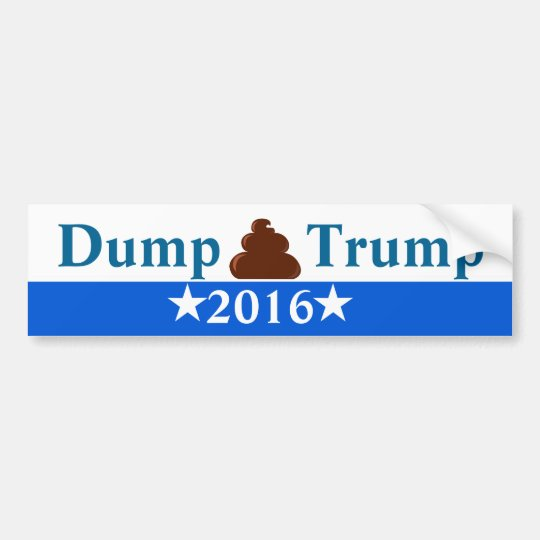 Dump Trump Anti-Trump Bumper Sticker