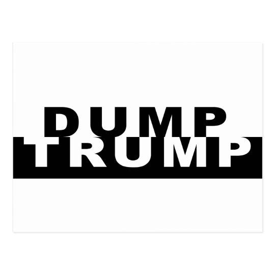 Dump Trump B&W Postcard