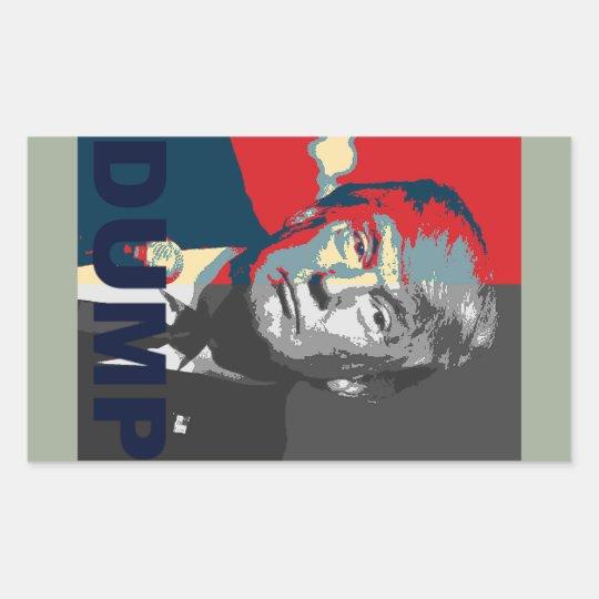 Dump Trump Campaign Sticker | Anti Donald Trump