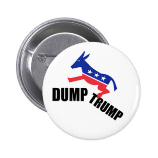 Dump Trump Dems 6 Cm Round Badge
