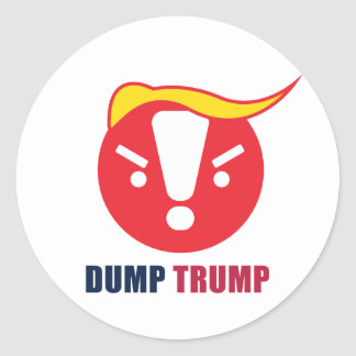 Dump Trump Emoji Round Sticker: White / Ant Art Classic Round Sticker