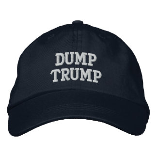 Dump Trump Personalized Adjustable Hat Embroidered Baseball Cap