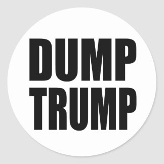 """DUMP TRUMP"" ROUND STICKER"