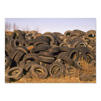Dumped old tyres card
