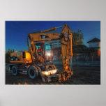 dumper truck bulldozer construction dozer poster