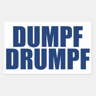 DUMPF DRUMPF (Blue on White) Rectangular Sticker