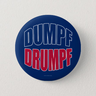 DUMPF DRUMPF (Blue & Red on Blue) 6 Cm Round Badge