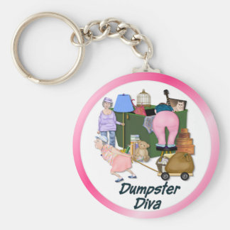 Dumpster Divas Basic Round Button Key Ring