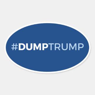 #DumpTrump Oval Sticker