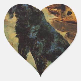 Dun, a Gordon Setter Belonging to Comte Alphonse d Heart Sticker