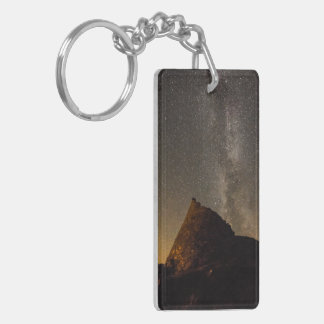Dun Carloway Broch double sided key ring. Double-Sided Rectangular Acrylic Key Ring