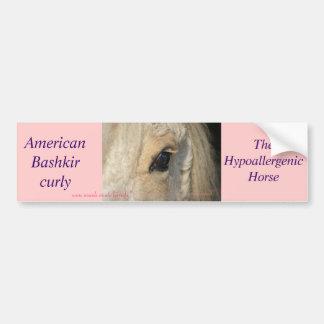 Dunalino American Bashkir curly filly Bumper Sticker