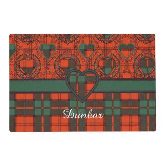 Dunbar clan Plaid Scottish tartan Laminated Placemat