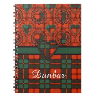 Dunbar clan Plaid Scottish tartan Notebook