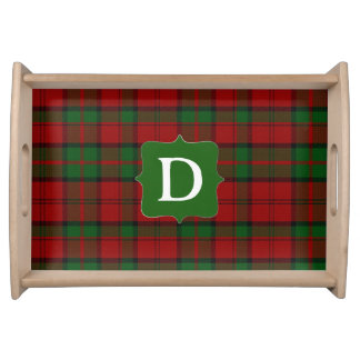 Dunbar Clan Tartan Plaid Monogram Serving Tray