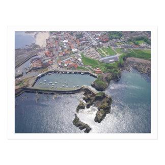 Dunbar harbour postcard