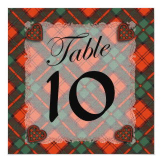 Dunbar Scottish clan tartan - Plaid 13 Cm X 13 Cm Square Invitation Card