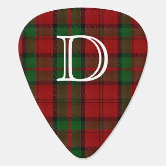 Dunbar Tartan Plaid Monogram Guitar Pick