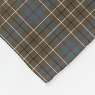 Duncan Clan Brown and Gray Reproduction Tartan Fleece Blanket