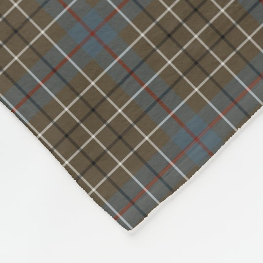 Duncan Clan Brown and Grey Reproduction Tartan Fleece