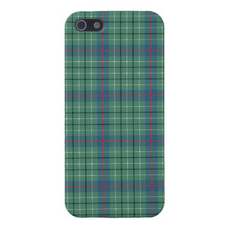 Duncan Clan Light Green and Blue Ancient Tartan Cover For iPhone 5/5S