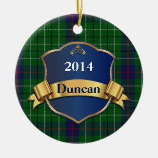 Duncan Tartan Plaid Custom ornament
