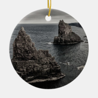 Duncansby Rock Stacks North of Scotland Landscape Christmas Ornament