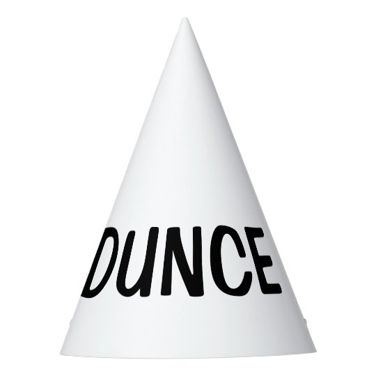 Dunce Hat - DIY custom party hats