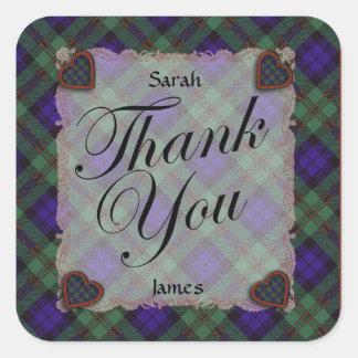 Dundas Scottish clan tartan - Plaid Square Sticker