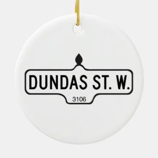 Dundas Street West, Toronto Street Sign Christmas Ornament